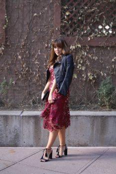 sequined floral dress