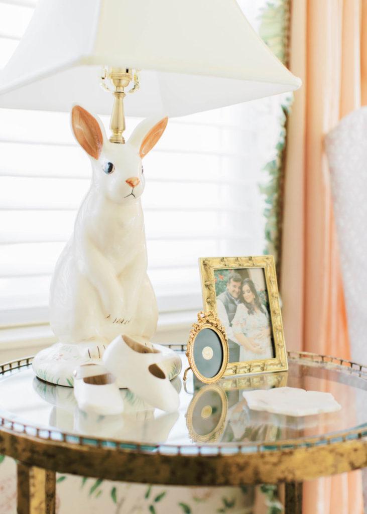 ceramic bunny lamp